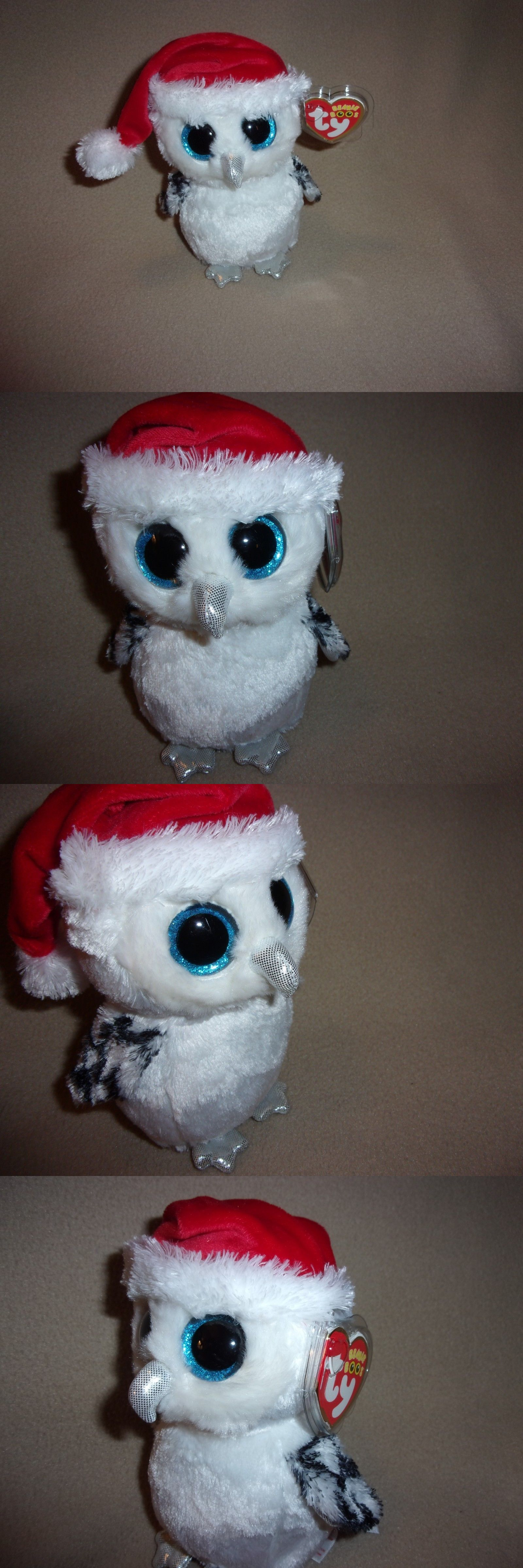 Other Ty Beanbag Plush 1037  Ty New Tinsel The Snowy Owl Beanie Boo ... 1b845f1427c2
