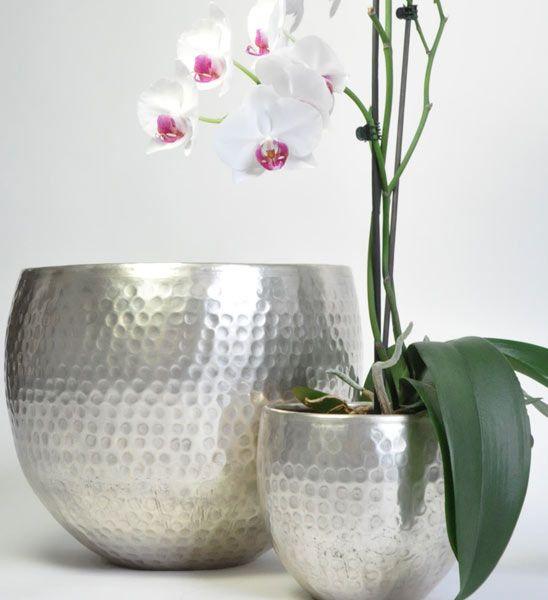 Moderne Blumentöpfe blumentopf silber restposten für zuhause for the home