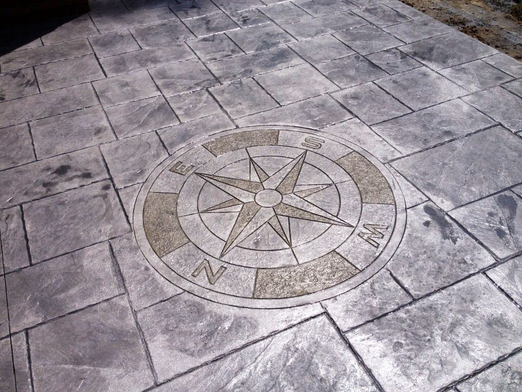 Stamped Concrete Stamped Concrete Compass Rock Solid
