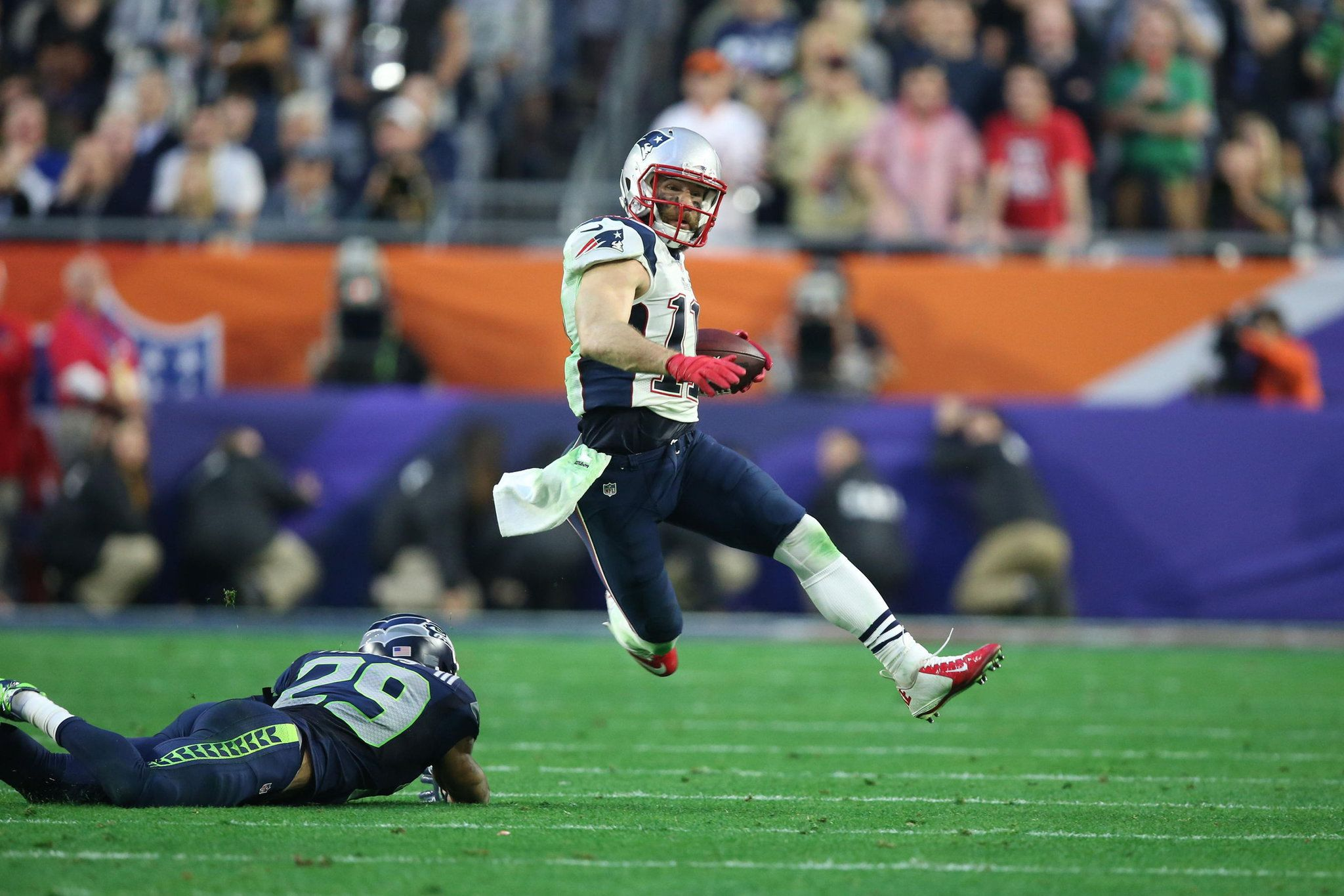 One Yard From Crushing Loss Patriots Grab Their 4th Title Super Bowl Julian Edelman Patriots