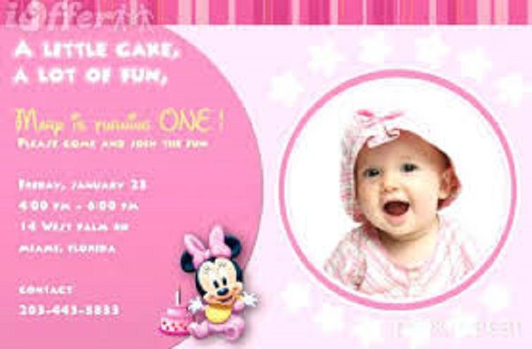 Make Birthday Invitations Cards Online For Free 1st Birthday