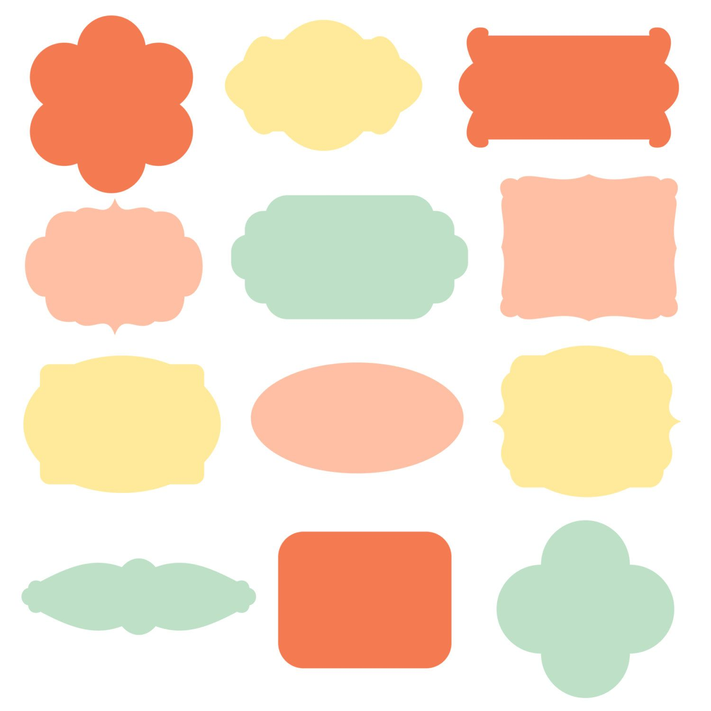 digital labels sprinkles yellow mint coral png files rh pinterest com clip art label templates clip art labels christmas