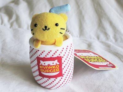 20c9f8347 Nyanko Burger keychain plush by maylenor, via Flickr | Cute Kawaii ...