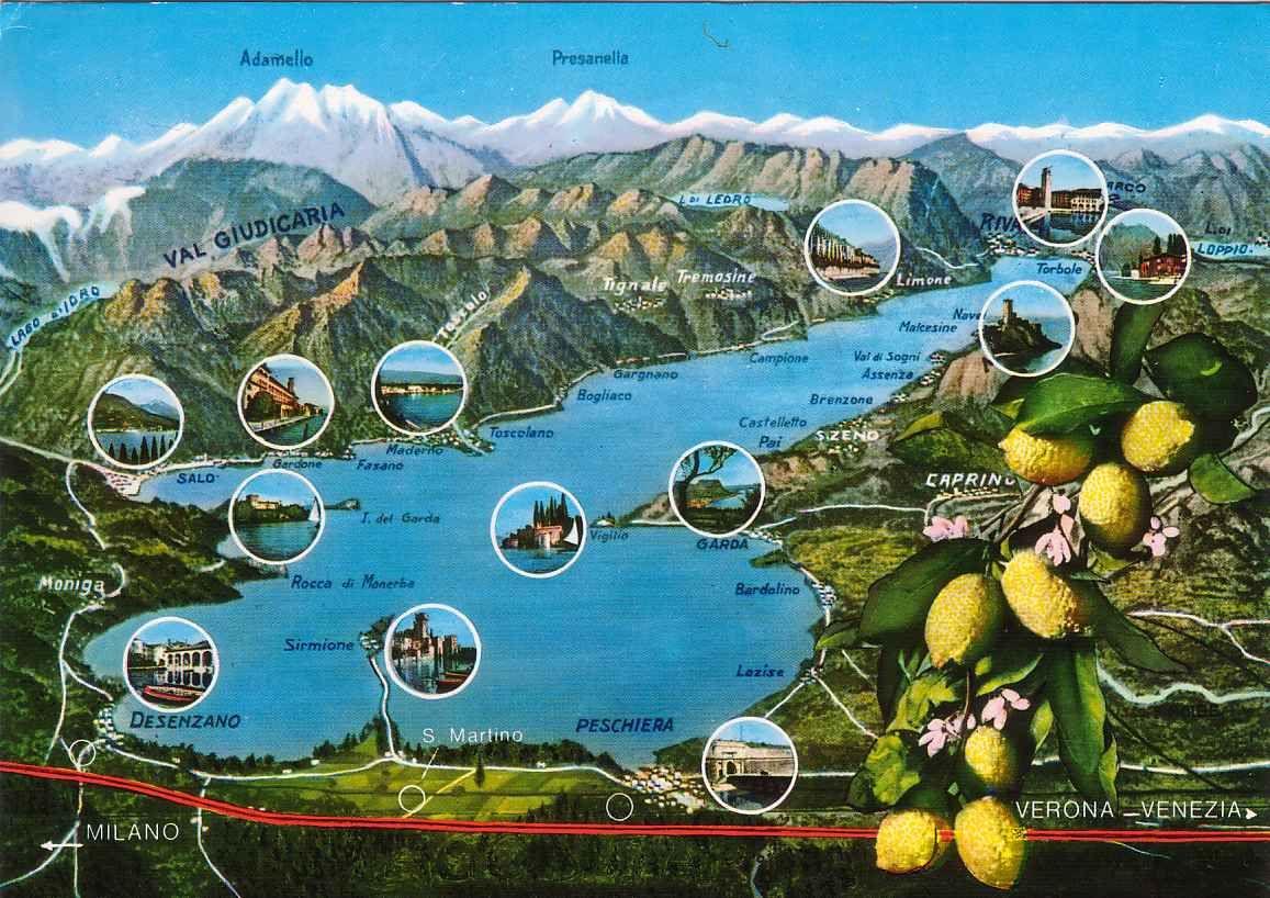 Gardasee Map Map Lagodigarda Lakegarda Gardasee Gardasee