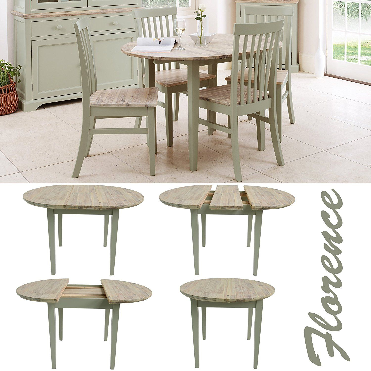 Florence Round Florence Round Extended Table Random Table Round Kitchen Kitchen