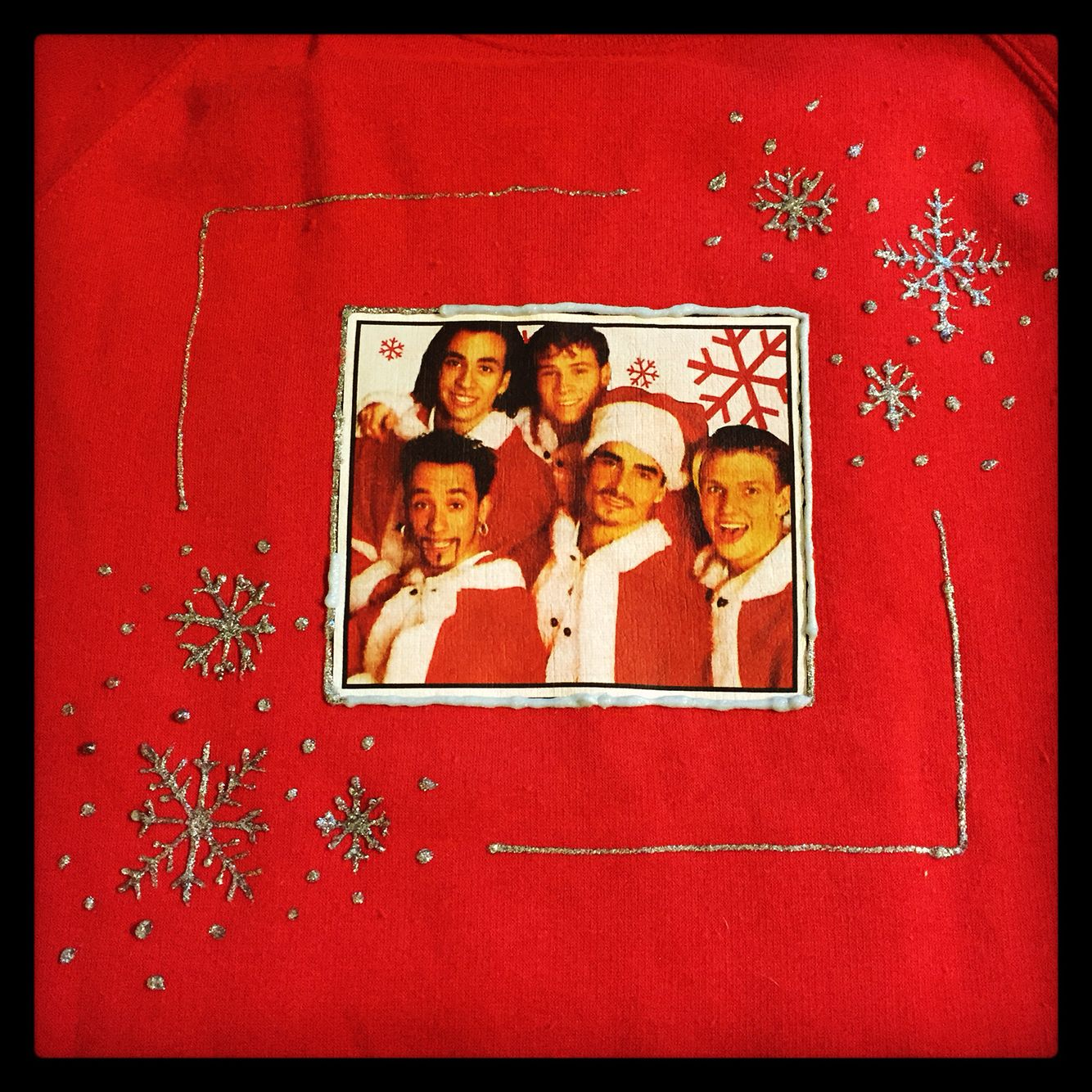 Backstreet Boys Christmas Sweater.Handmade Backstreet Boys Christmas Sweater Backstreetboys