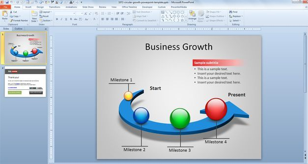 Free Business Growth PowerPoint Templates   presentation