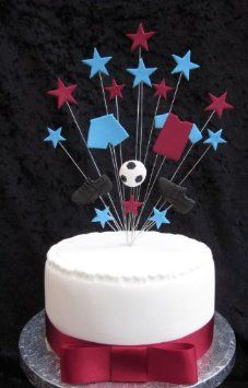 West Ham Aston Villa Football Birthday Cake Topper Suitable For A 20cm Amazoncouk Kitchen Home
