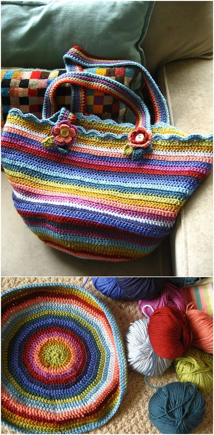 Crochet Bag Pattern – Easy Crochet Patterns #bagpatterns