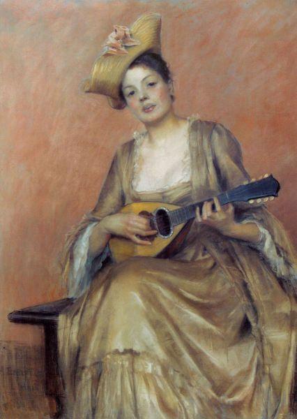 Albert Edelfelt Art Music Music Art Female Art