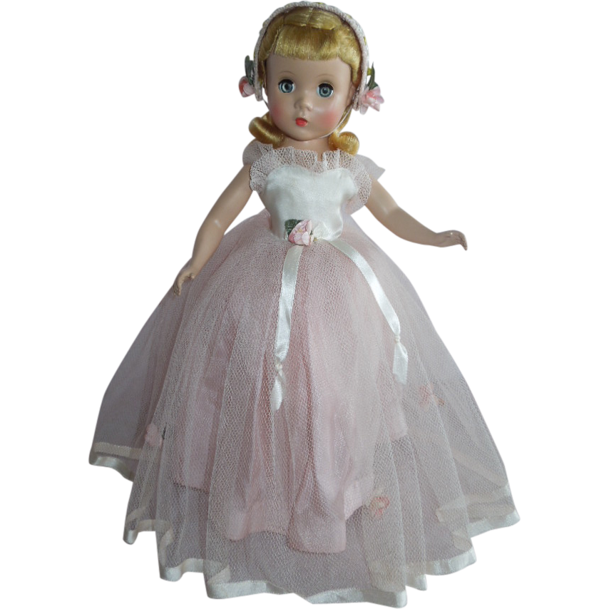 "OUTSTANDING 14"" Madame Alexander Strung Rosamund the Bridesmaid Doll from gandtiques on Ruby Lane"