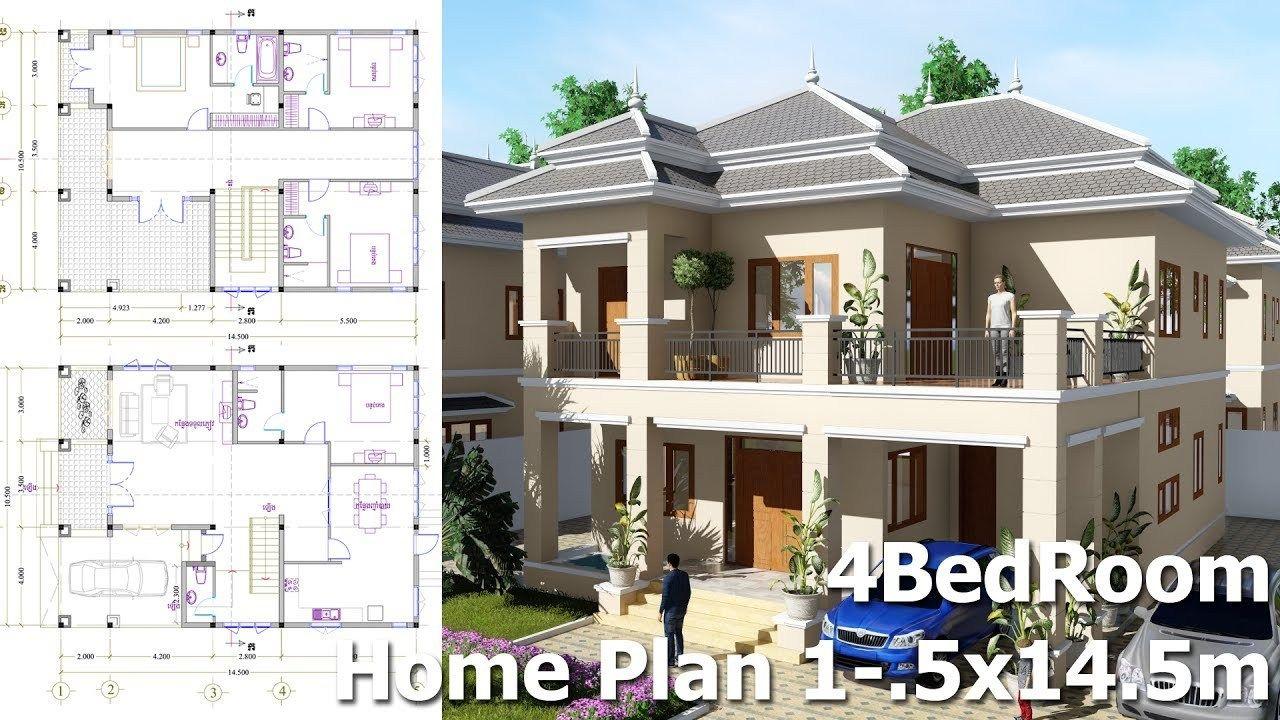 4 Bedroom Villa Design Idea 10 5m X14 5m Maison Moderne