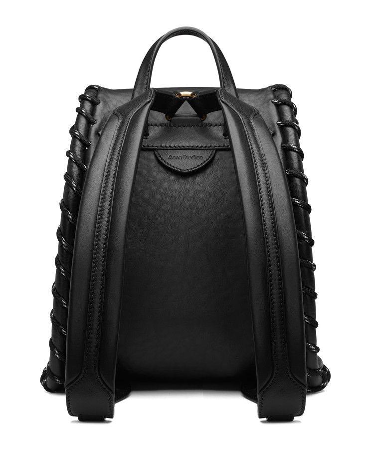 Acne Studios Rope Jungle Black Small backpack  7b75ec2c0355a