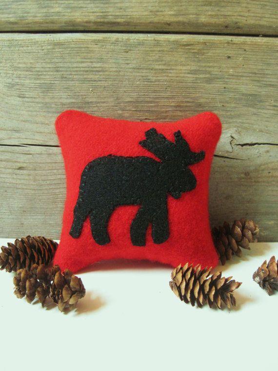 Decorative Pillow / Moose Pillow / Cabin Pillow / by AwayUpNorth