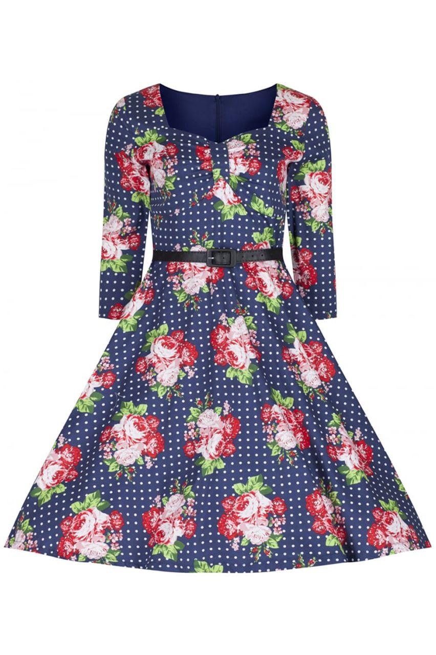 22eddb3e949f vintage φόρεμα 50s country chic floral Barbara
