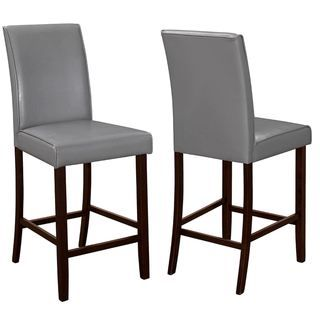 Lovely Medlin Contemporary Grey Parson Style Counter Height Stools (Set Of 2)