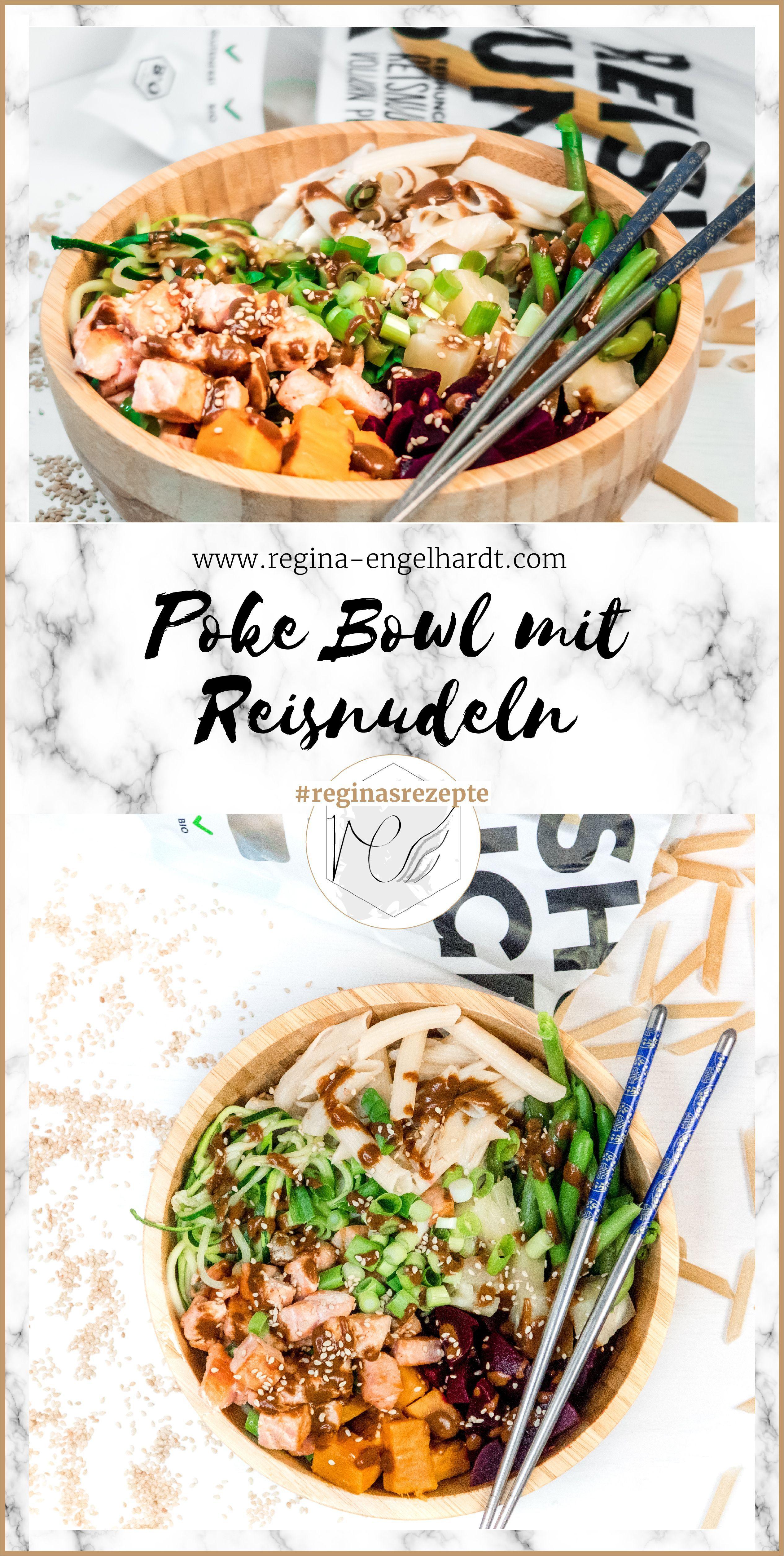 Bowl mit Reisnudeln - Reginas Fitness Rezepte Poke Bowl mit Reisnudeln Rezept Die Poke Bowl ist ein hawaiianisches Nationalgericht und besteht in der Regal aus Sushi-Reis, Gemüse, Obst und rohem Fisch. Die Variante, die ich euch jetzt zeige, wird nicht auf der Basis von Sushi-Reis, sondern Reisnudeln, zubereitet....