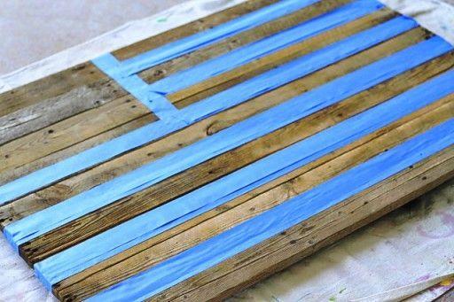 Diy Reclaimed Wood American Flag Hommade American Flag