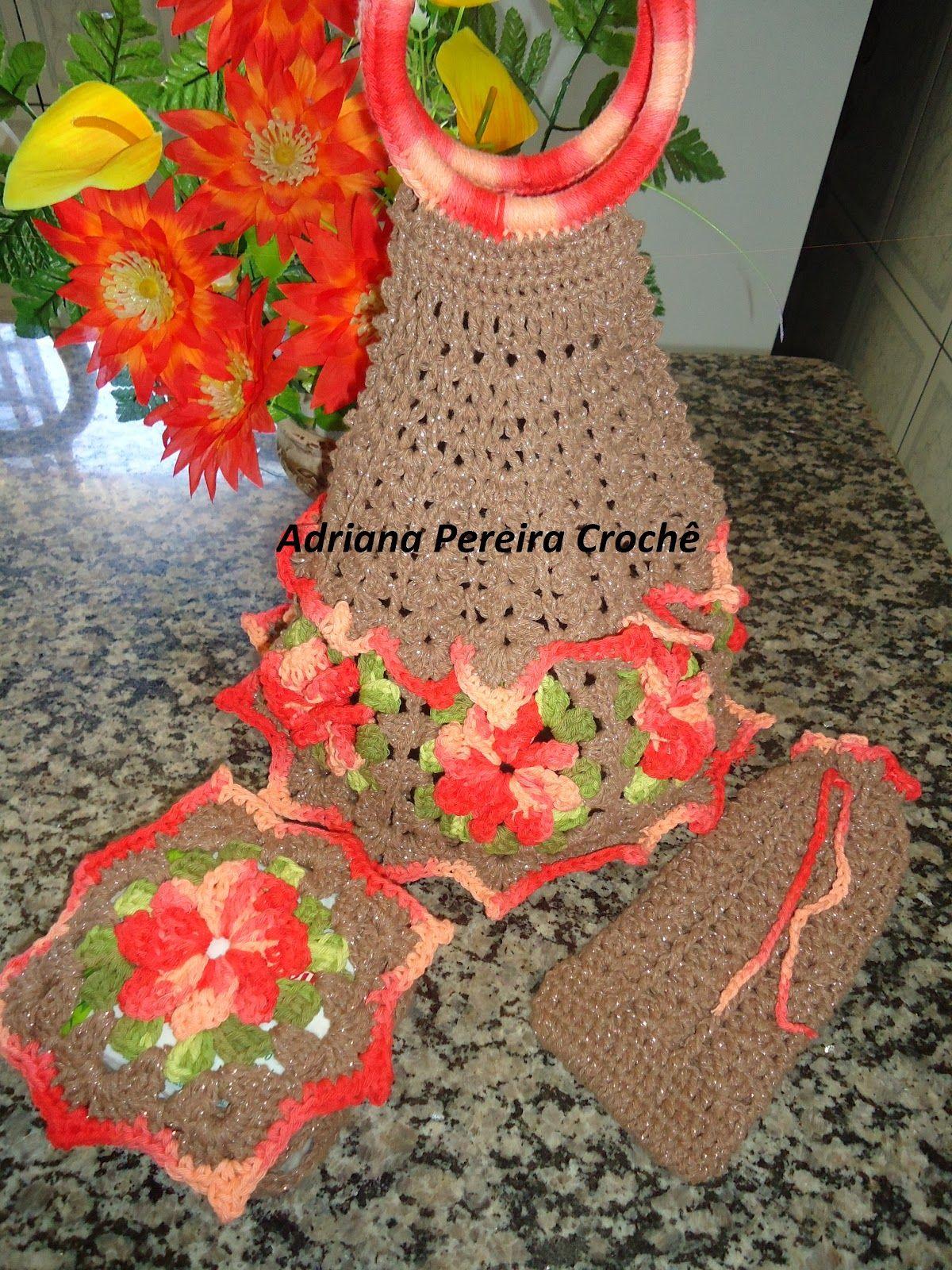 Adriana Pereira Crochê: porta pratos