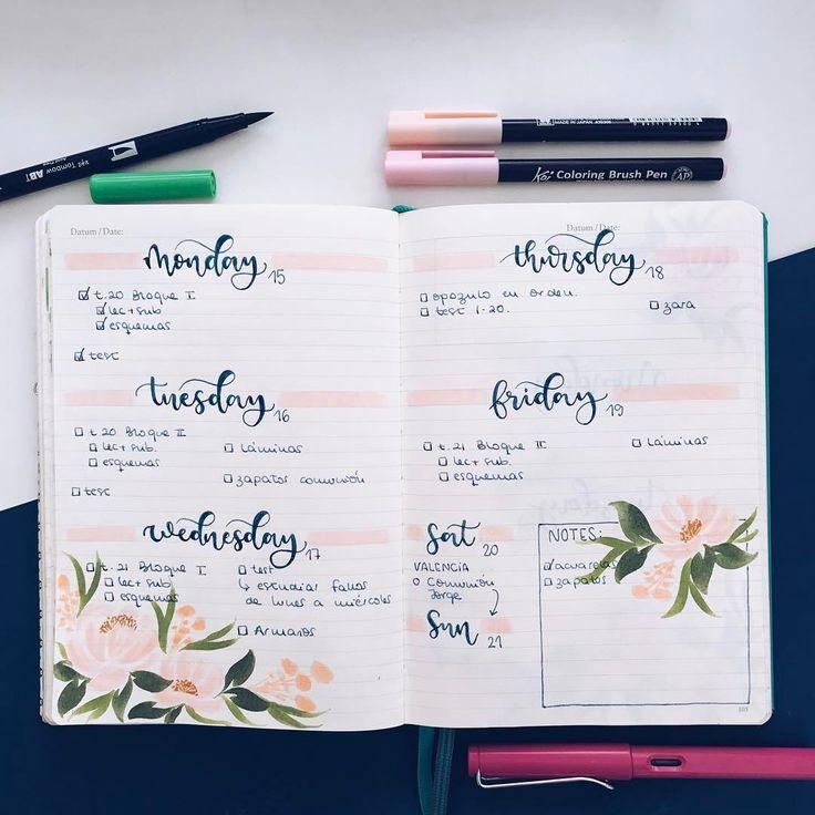 """1,706 Likes, 16 Comments - Bullet Journal & Studygram (@mylittlejournalblog) on Instagram: """"Admiro a la gente que es capaz de estudiarse (o mirarse) temas enteros en un sólo día, yo no puedo!…"""""""