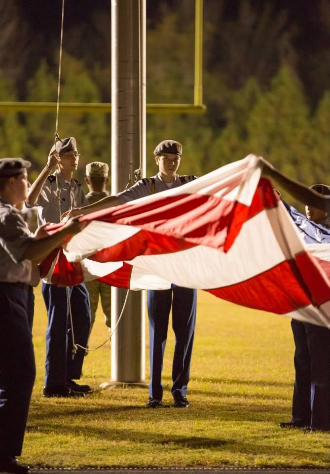 Heide Trask Cadet Justin Rolfe Handling The Colors Prior To A Home Football Game Football Games Military Cadet