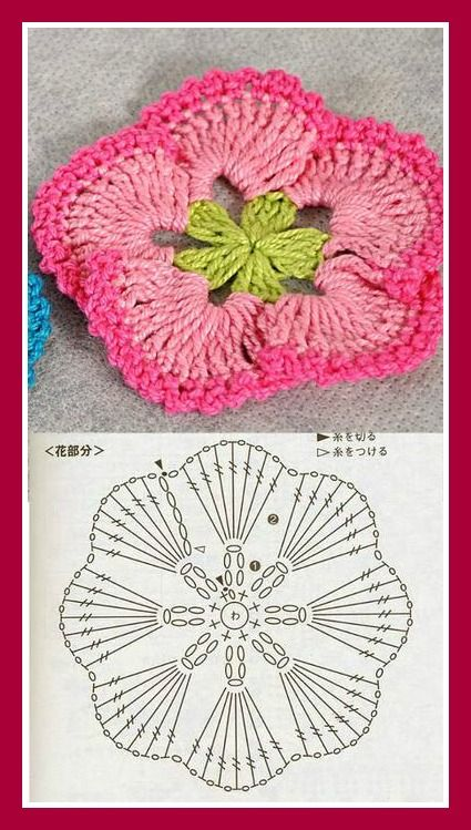Patrones gratis de flores tejidas al Crochet | Flors ganxet ...