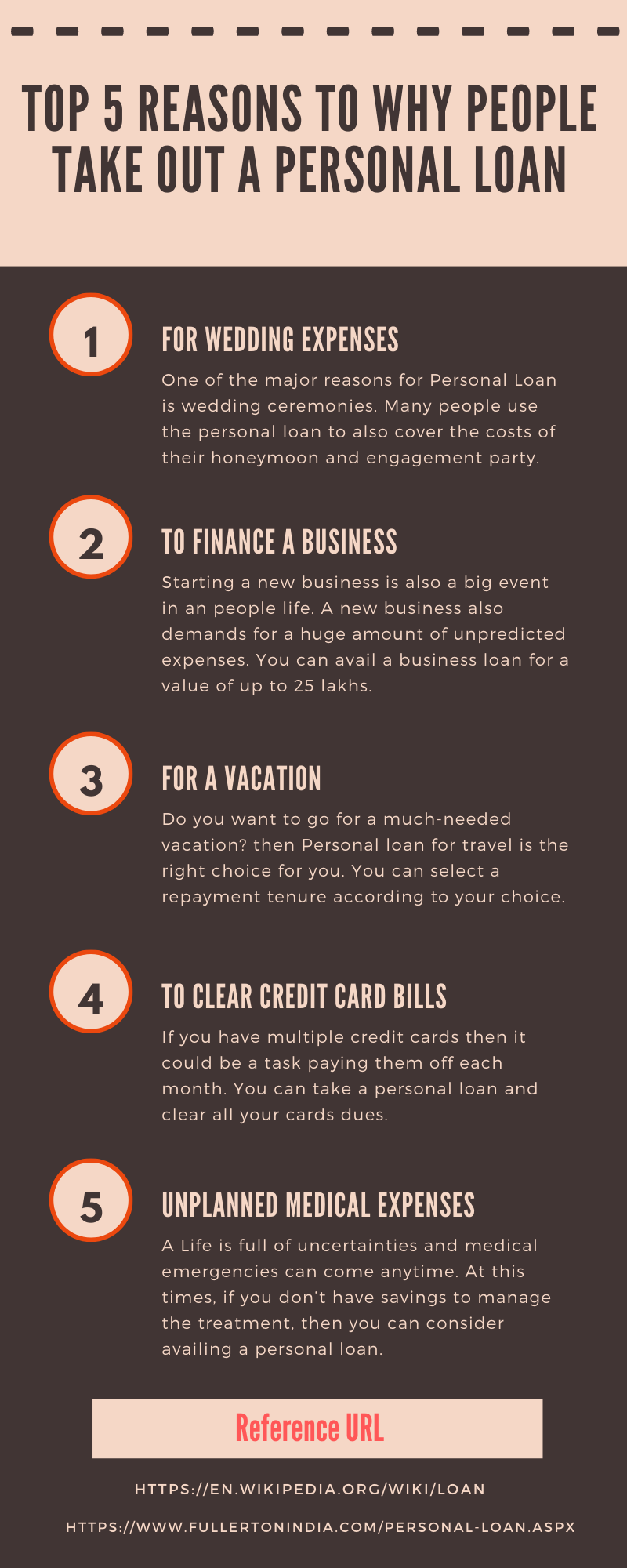 Top 5 Reasons To Why People Take Out A Personal Loan In 2020 Tips Infographic Paying Ads