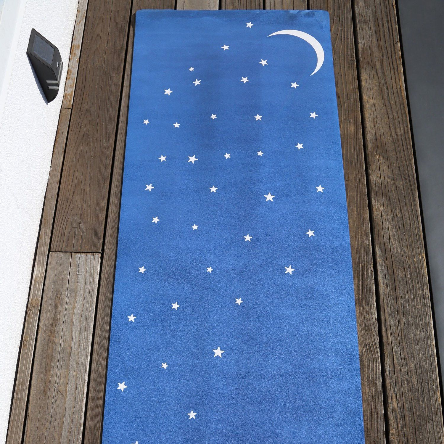 Moon And Stars Mat In Blue / Yoga Zeal / Gifts For Her