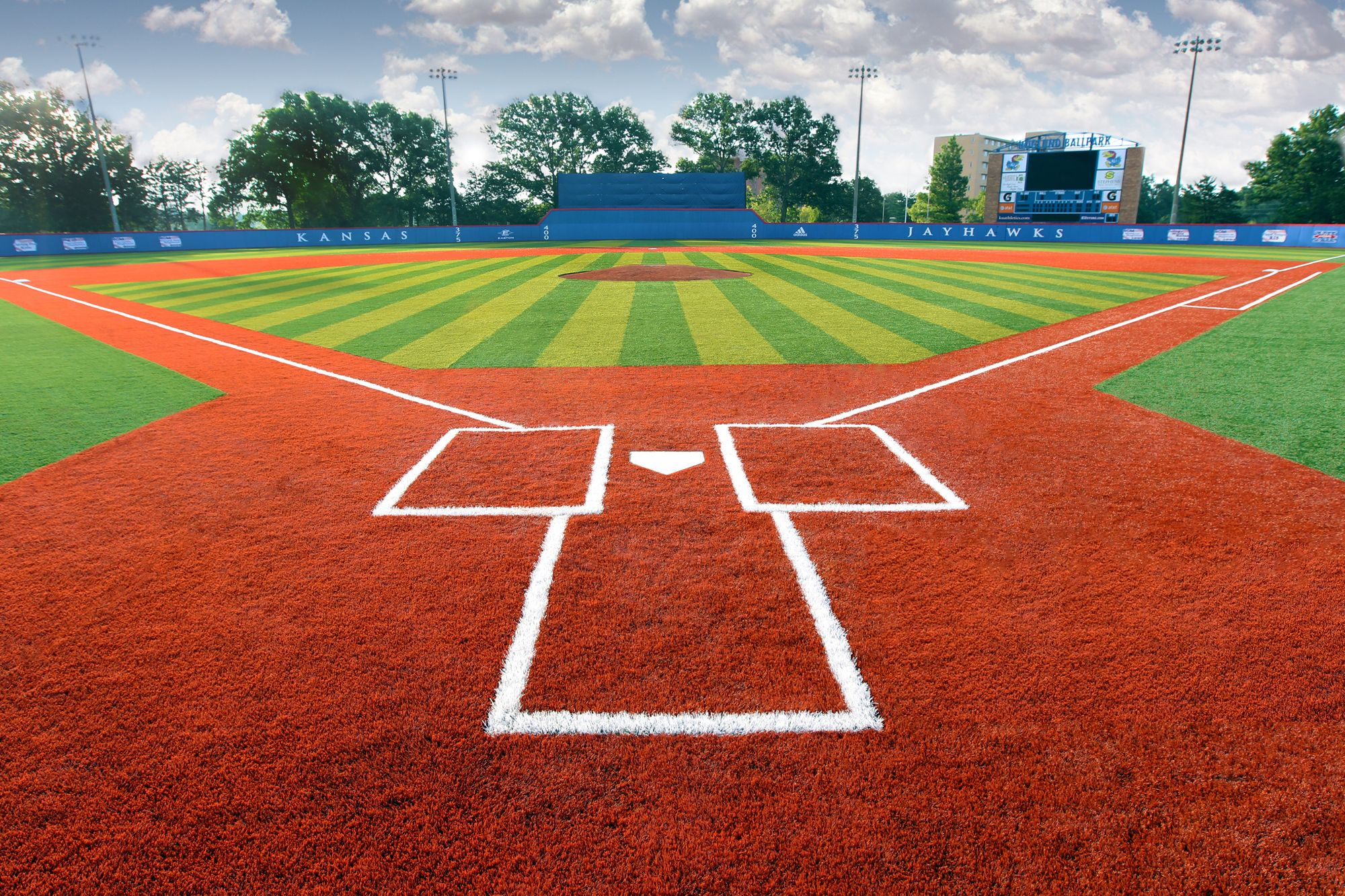 University Of Kansas Hoglund Ballpark 135 003 Square Feet Of Astroturf Gameday Grass 3d