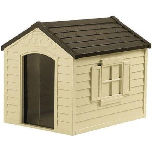 Large Dog House Outdoor Pet Kennel All Weather Shelter Durable