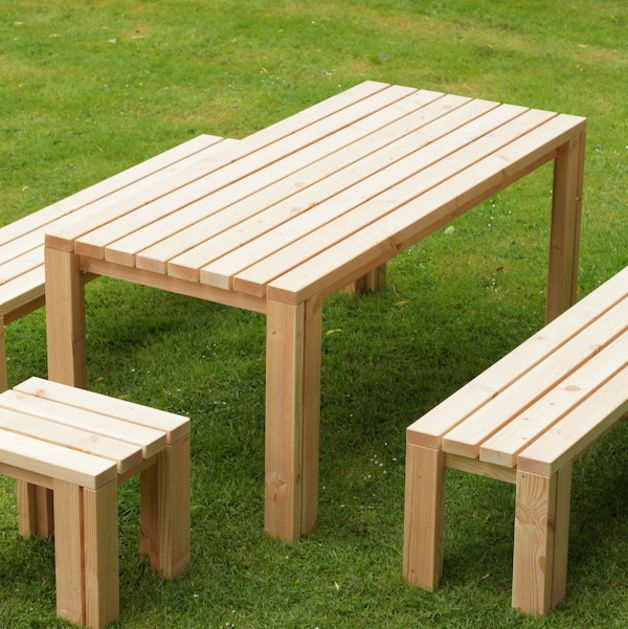gartenm bel gartentisch 80 x 180 cm heimisches holz ein designerst ck von binnen markt bei. Black Bedroom Furniture Sets. Home Design Ideas