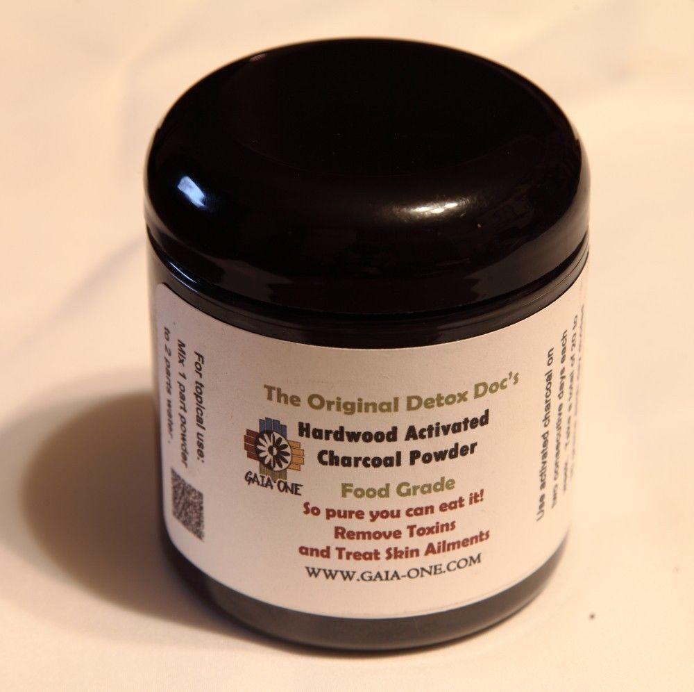 Activated Charcoal Powder-Food Grade And FREE 4 Oz. of Peppermint Sea Salt! #GaiaOne