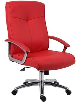 Pin By Elizabeth Tamor On New House 3 Red Office Chair Contemporary Office Chairs Red Leather Chair