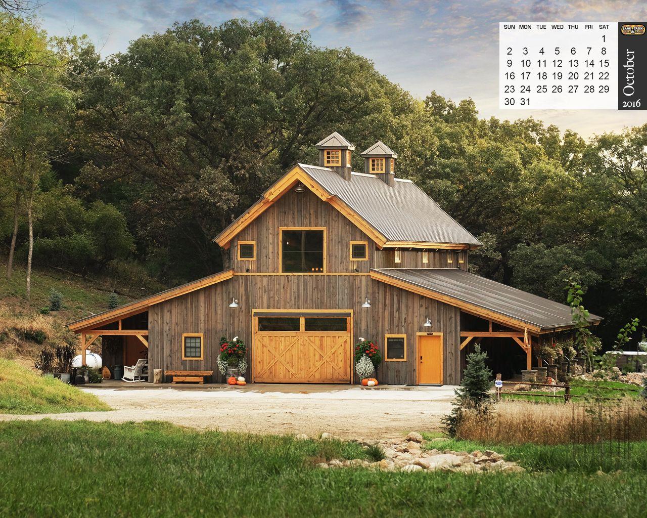 Gambrel Pole Barn House