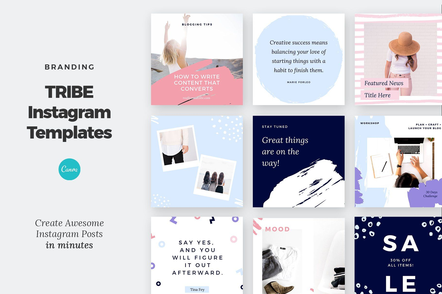 Instagram Post Templates Canva Tribe (With images