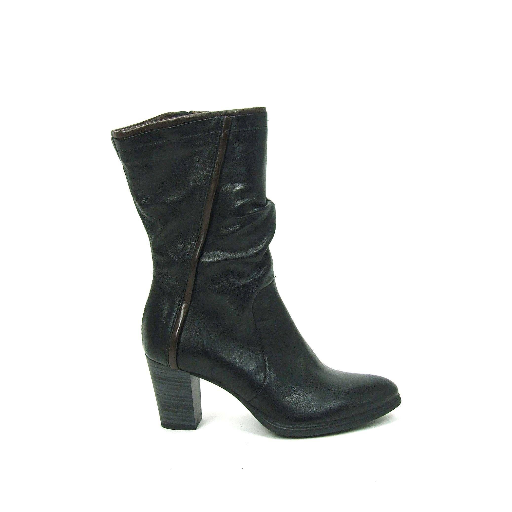 Chaussures Marron Manfield Avec Bloc Poche Talon Pour Dames XbrcJvP