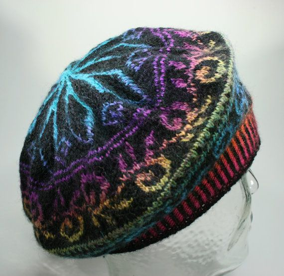 Fair Isle beret handknitted Tam wool by Coonstuff on Etsy, $45.00 ...