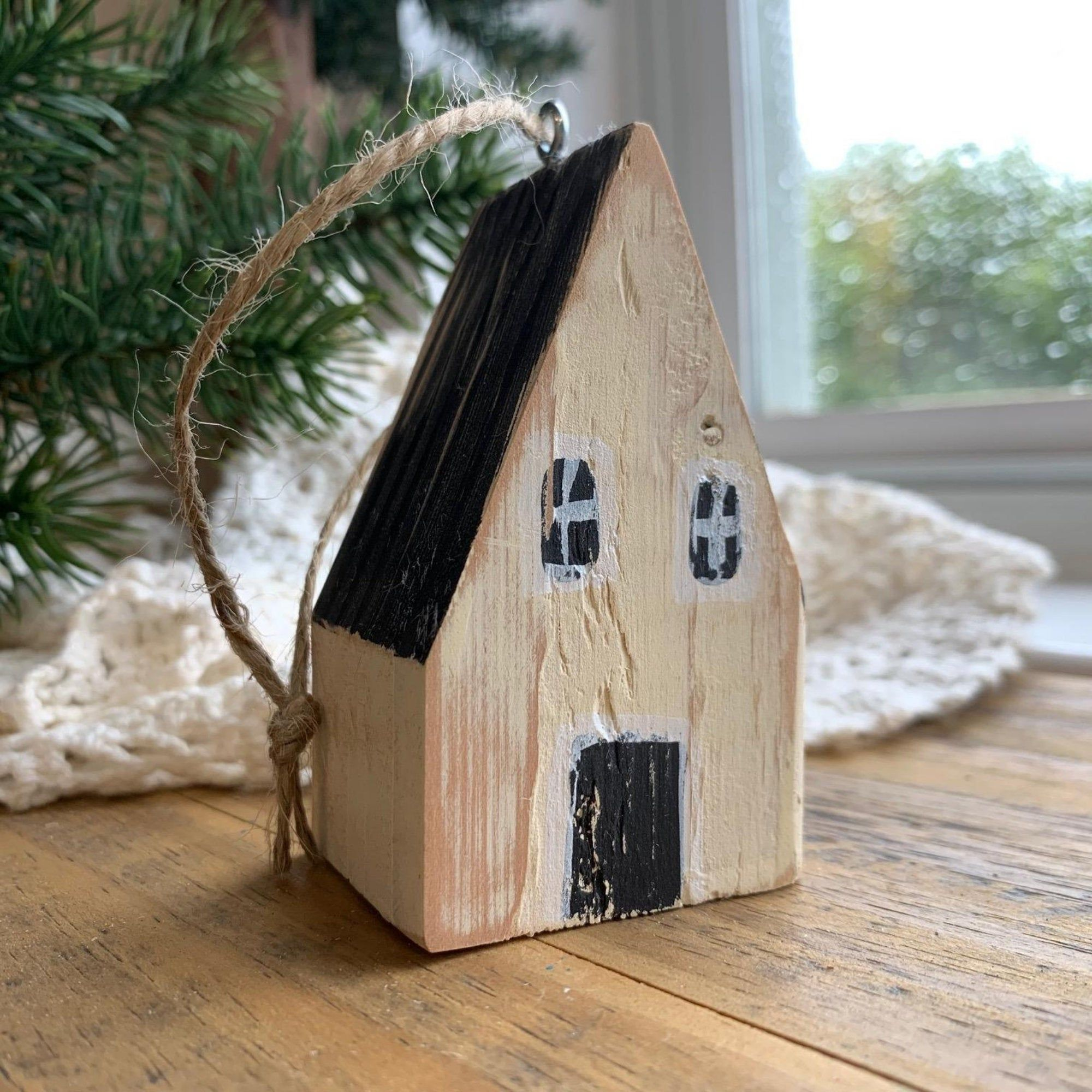 2020 Christmas Ornament The Year We Stayed Home Little Wooden Etsy House Ornaments Christmas Ornaments Painted Driftwood