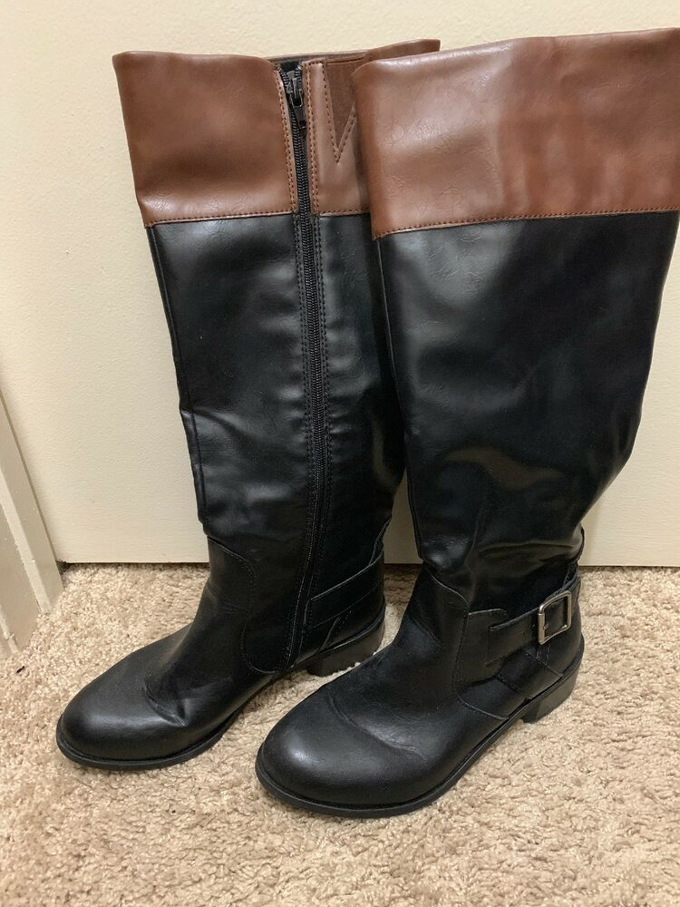 low price incredible prices vast selection Arizona Boots Size: 7 1/2. Black With Brown Around The Top ...