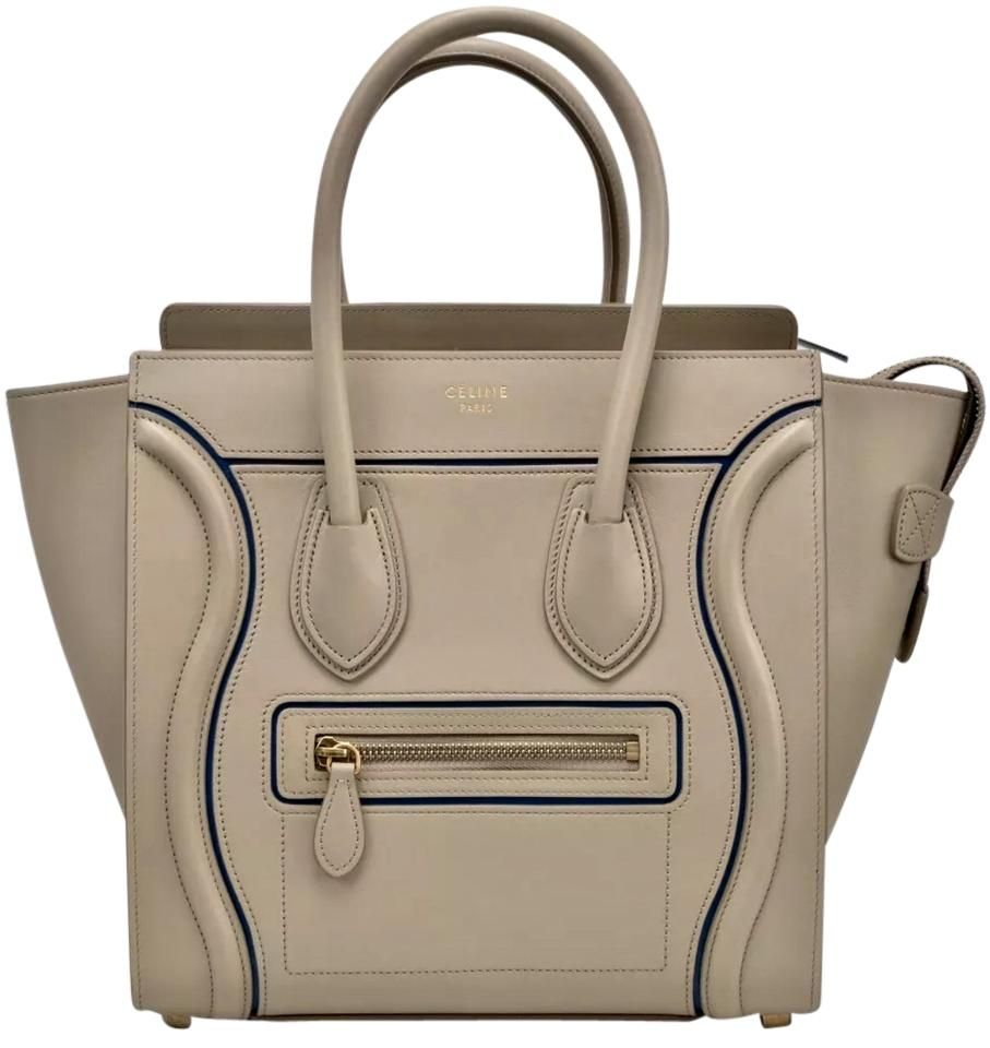 f5709165ce25 Cline Micro Luggage Light Taupe With Blue Accent Celine Tote Bag. Get one  of the hottest styles of the season! The Cline Micro Luggage Light Taupe  With Blue ...