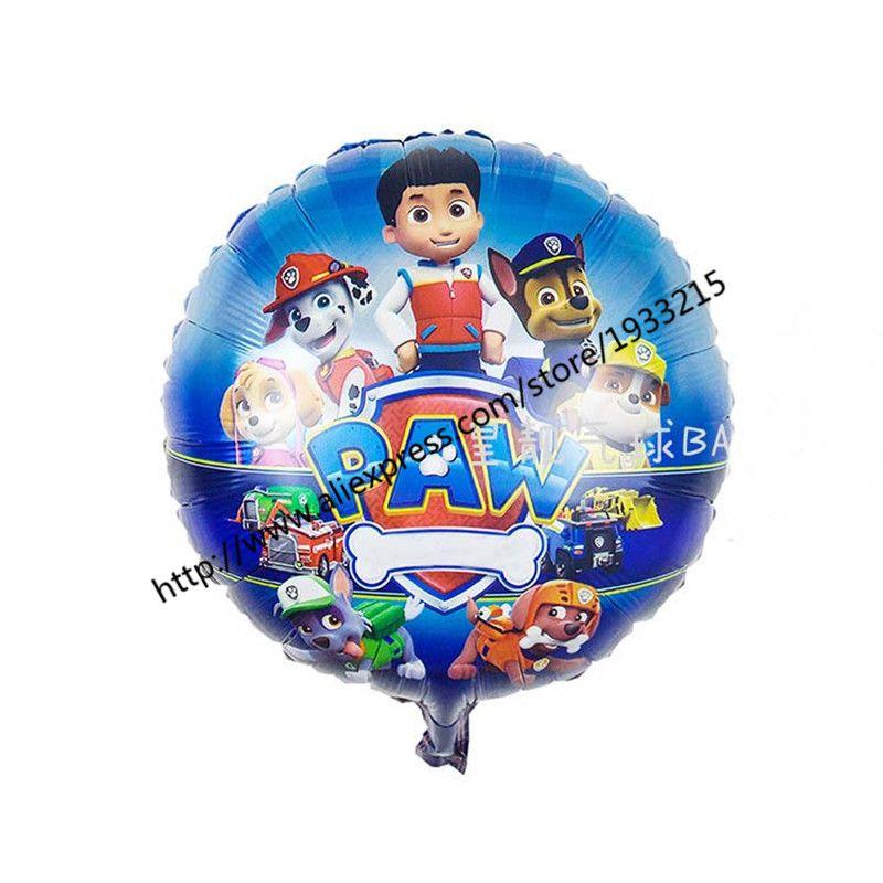 5 개/몫 18 인치 강아지 순찰 개 호일 풍선 애니메이션 개 헬륨 Patrulla Canina 장난감 파티 장식 Globos