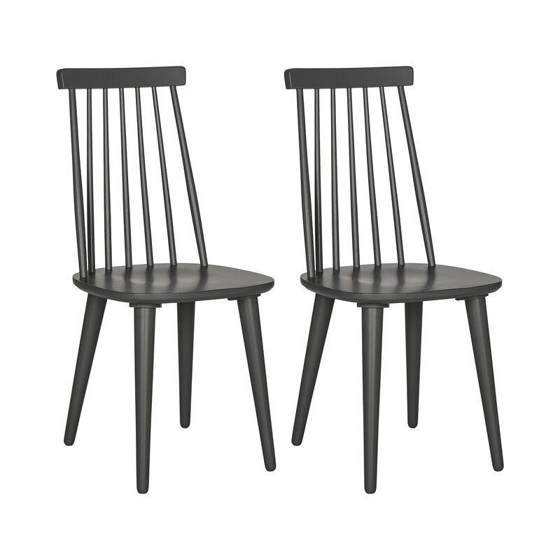Arikara Solid Wood Dining Chair In 2020 Farmhouse Dining Chairs Solid Wood Dining Chairs Dining Chairs