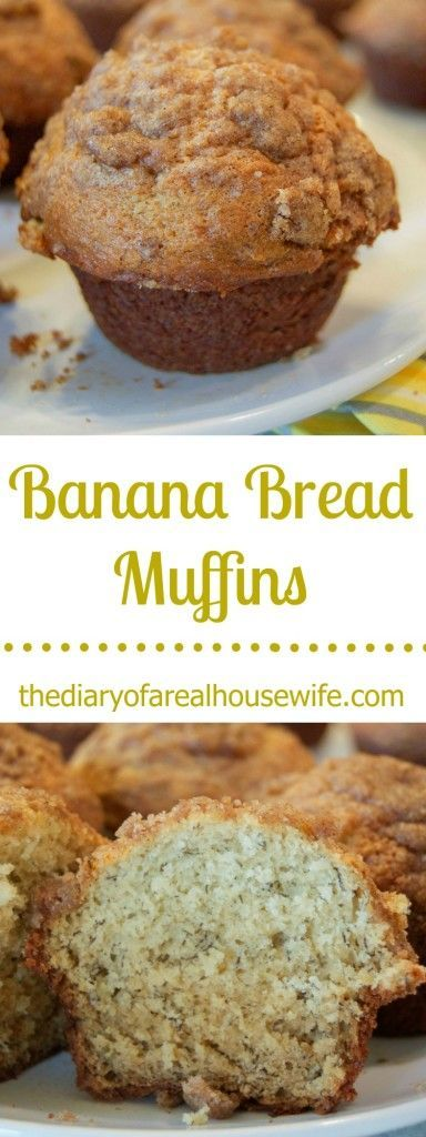Banana Bread Muffins Recipe - a delicious breakfast or afternoon snack. These freeze well too.