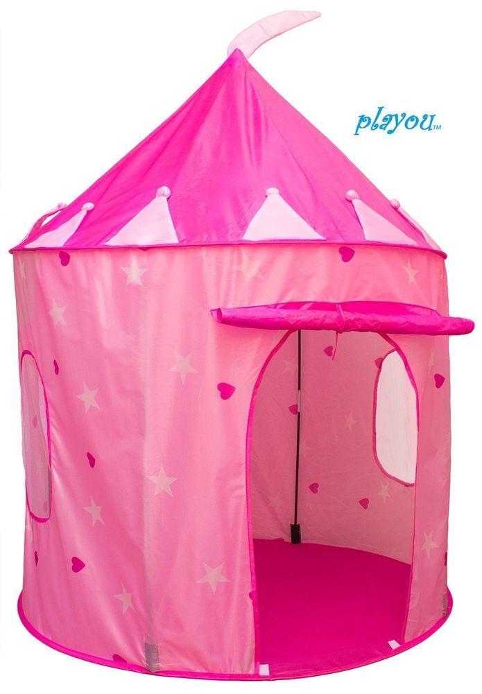 Pop Up Play Tent Girls Pink Princess Castle indoor outdoor fairy sleep Games  sc 1 st  Pinterest & Pop Up Play Tent Girls Pink Princess Castle indoor outdoor fairy ...
