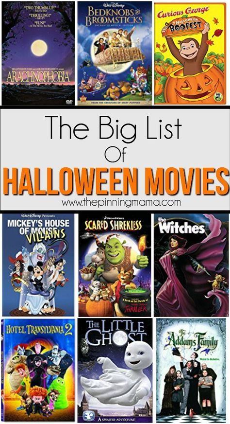 The Big List of Halloween Movies for Kids | Halloween movies and Movie