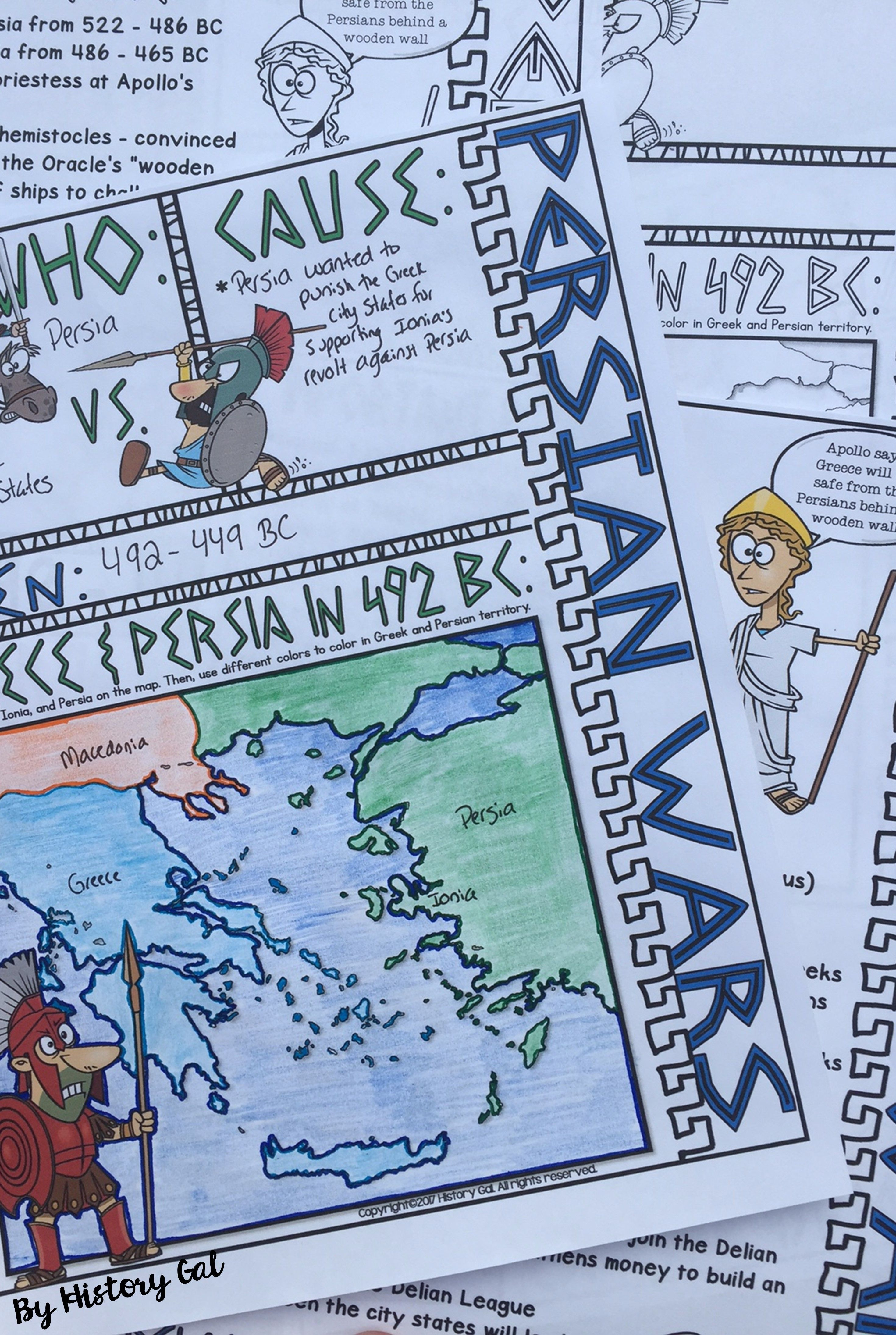 These Persian Wars doodle notes are a great way to summarize or review the  Persian Wars. Students will enjoy color…   Doodle notes [ 4380 x 2940 Pixel ]
