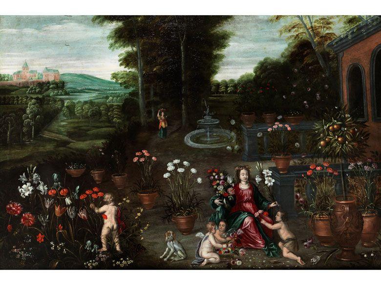 Maler In Der Werkstatt Nachfolge Von Jan Brueghel D J 1601 1678 Und Frans Wouters 1612 14 1659 Fine Art Auctions Painting Art Auction
