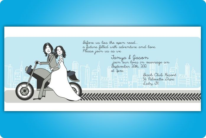 motorcycle wedding invitations | wedding - invitation | pinterest, Wedding invitations