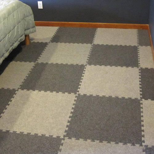 Royal Interlocking Carpet Tile bedroom flooring installation. Flooring For BasementWet ... & Royal Interlocking Carpet Tile | Flooring installation Bedrooms and ...