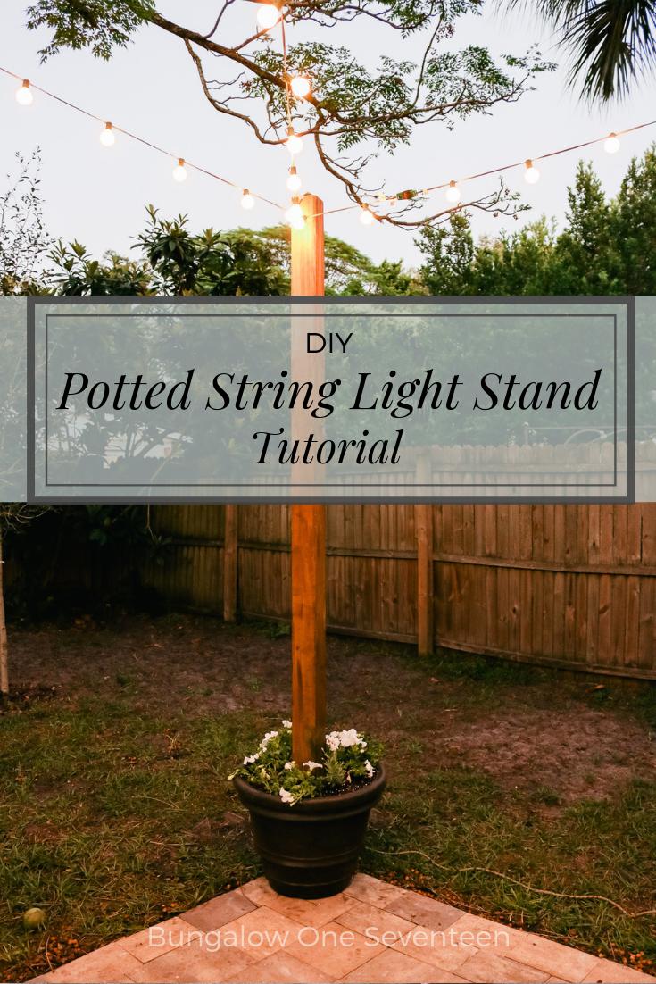 Photo of DIY Potted String Light Stand – Mit diesem DIY-Ständer können Sie Lichterketten… – bingefashion.com/home – Diy Handwerk